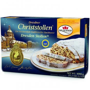 Original Dresdner Christstollen 1kg Weihnachtsgebäck