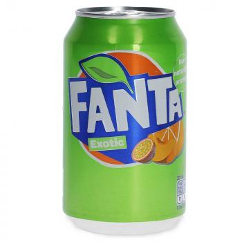 Fanta Exotic 330ml Kohlensäurehaltiges Erfrischungsgetränk mit Exotic-Geschmack