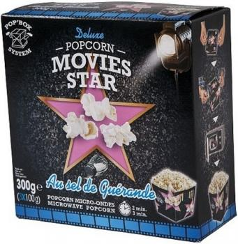 Movies Star Pop Box Mikrowellen Popcorn Salz 3x100g