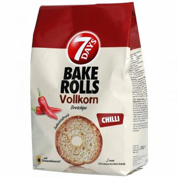 7Days Bake Rolls Vollkorn Chilli 250g Vollkorn-Brotchips