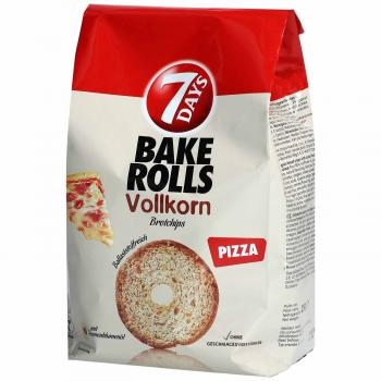 7Days Bake Rolls Vollkorn Pizza 250g Vollkorn-Brotchips